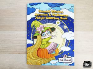 Kawaii Witches Autumn Halloween Adult Coloring Book