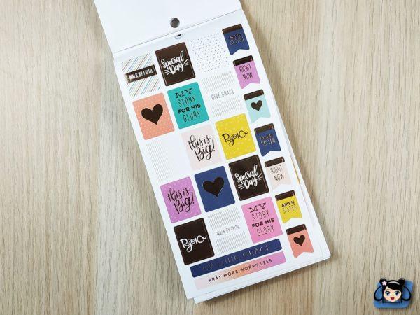Stickerbook Faith Warrior mini